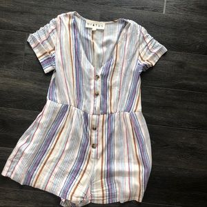 Hiatus striped romper